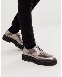 ASOS Lace Up Shoes - Metallic