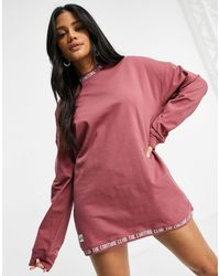 The Couture Club Oversized Sweat Dress - Pink