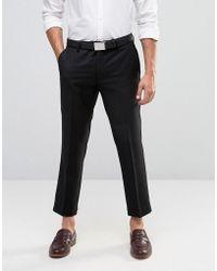 Farah Skinny Cropped Trousers - Black