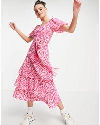 Whistles Розовое Платье С Принтом Viola-розовый Цвет