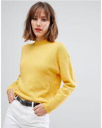 Esprit High Neck Lightweight Sweater - Yellow