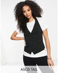 ASOS Asos Design Tall Mix & Match Suit Waistcoat - Black