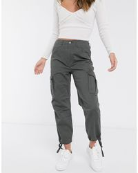 ASOS Cargo Trousers With Utility Pocket - Grey