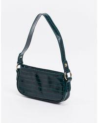 ASOS Croc Effect 90s Shoulder Bag - Green