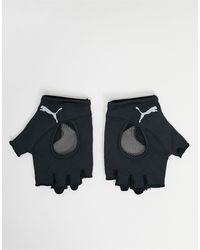 PUMA Черные Перчатки Без Пальцев Training-черный Цвет