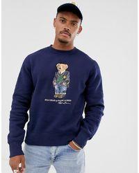 Polo Ralph Lauren Sweat-shirt à imprimé ours - Bleu marine