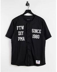 The Hundreds Roster Baseball Jersey Top - Black