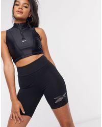 Reebok Side Logo legging Shorts - Black