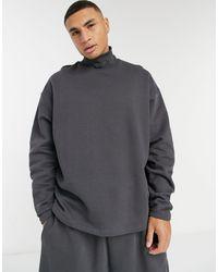 ASOS Co-ord Oversized Turtle Neck Sweatshirt - Black