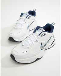 Nike - Air Monarch Trainers In White 415445-102 - Lyst