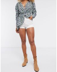 TOPSHOP Premium Mom Shorts - White