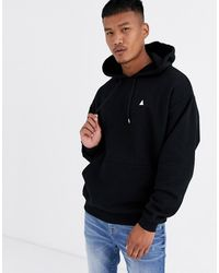 ASOS - Oversized Hoodie In Black With Triangle - Lyst