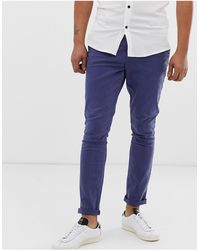 ASOS Superskinny Chinos - Blauw