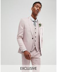 Noak Slim Wedding Suit Jacket - Purple