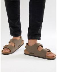 Birkenstock - Milano Birko-flor Nubuck Sandals - Lyst