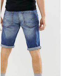 G-Star RAW 3301 Denim Shorts - Blue