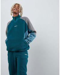 adidas Originals Зеленая Флисовая Куртка Eqt Dh5194 - Синий