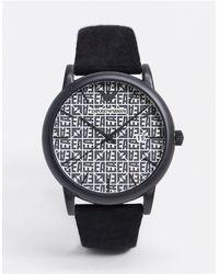 Emporio Armani - Черные Часы С Кожаным Ремешком Ar11274-черный - Lyst