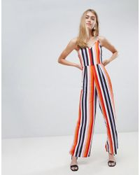 Miss Selfridge - Jumpsuit In Rainbow Stripe - Lyst