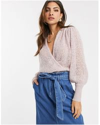 Y.A.S Textured Wrap Jumper-purple