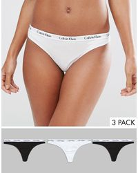 Calvin Klein Набор Из 3 Стрингов -мульти - Черный