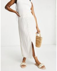 Warehouse Ditsy Floral Midi Skirt - Multicolour