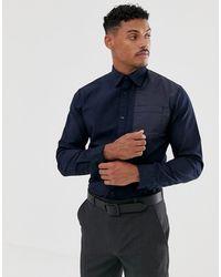 Jack & Jones Core Worker Shirt In Navy - Blue