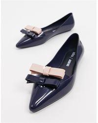 Jason Wu Bow Pointed Flat Shoes - Blue
