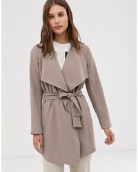 ONLY Wrap Coat - Gray