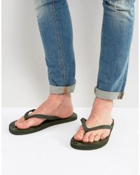 Hollister - Flip Flops Camo Print In Green - Lyst