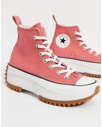 Converse Кораллово-розовые Кеды Run Star Hike-розовый Цвет