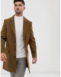 New Look Overcoat - Brown