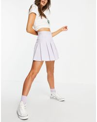 Pull&Bear Mini Pleated Tennis Skirt - Purple