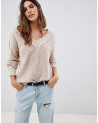 Abercrombie & Fitch - V Neck Cropped Knit - Lyst