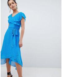 Coast - Dobby Wrap Dress - Lyst