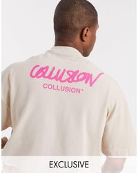 Collusion Oversized T-shirt With Logo Print - Multicolour