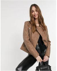 ONLY Куртка Из Искусственной Кожи Коричневого Цвета -коричневый Цвет