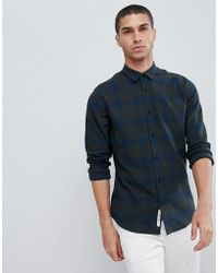 Only & Sons - Slim Fit Brushed Check Shirt - Lyst