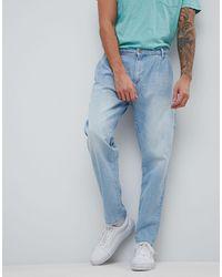 ASOS Asos - Dubbel Geplooide Jeans - Blauw