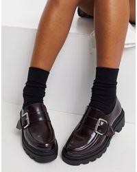 ASOS Mahi - Loafers Met Dikke Zool - Zwart
