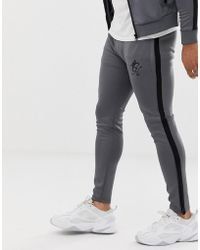 4de776b82b Gym King - Pantalon de survtement en polyester avec lisers - Lyst