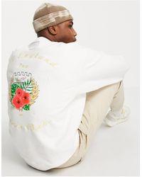 Liquor N Poker Tennis Club - Sweat-shirt décontracté d'ensemble - cassé - Blanc