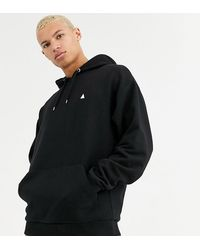 ASOS - Tall Oversized Hoodie In Black With Triangle - Lyst