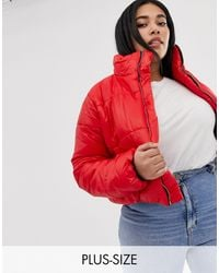 AX Paris Wet Look Cropped Jacket - Red