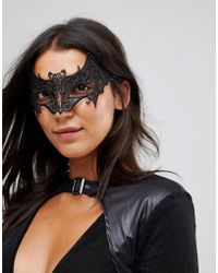 Leg Avenue - Vampire Bat Venetian Lace Applique Halloween Eye Mask - Lyst