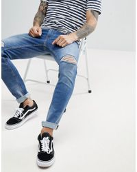 Produkt - Slim Fit Jeans With Rip Knee Detail - Lyst