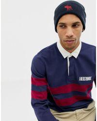 Abercrombie & Fitch Bonnet avec logo - Bleu