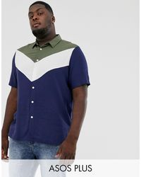 ASOS - Вискозная Рубашка Классического Кроя - Lyst