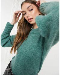 Monki Зеленый Джемпер С Объемными Рукавами Quinn-зеленый Цвет