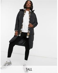 New Look Longline Duvet Puffer Coat - Black